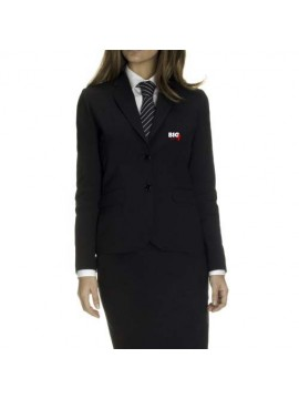 Black receptionist uniform suit